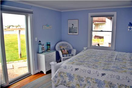West Dennis Cape Cod vacation rental - Third Guest Room with sliders to yard - King-size
