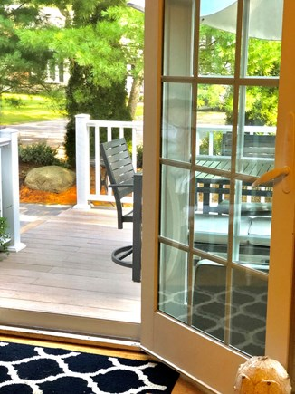 West Harwich Cape Cod vacation rental - Bringing the outdoors in - the French doors to walkout deck/patio