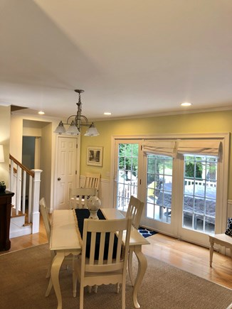 West Harwich Cape Cod vacation rental - Dining room area with leaf extension available for extra seating