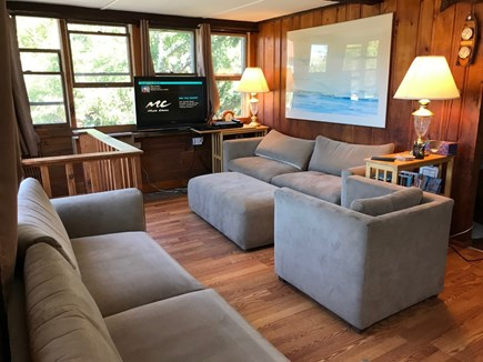 Eastham Cape Cod vacation rental - New cozy remodeled living room with flat screen TV