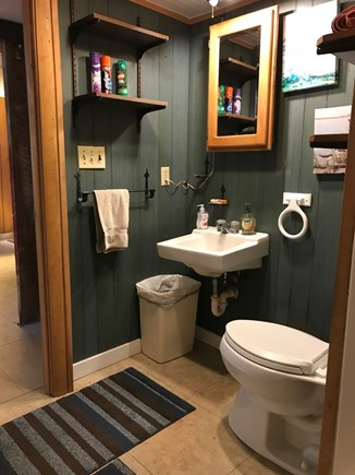 Eastham Cape Cod vacation rental - Downstairs full bathroom W/tub and shower