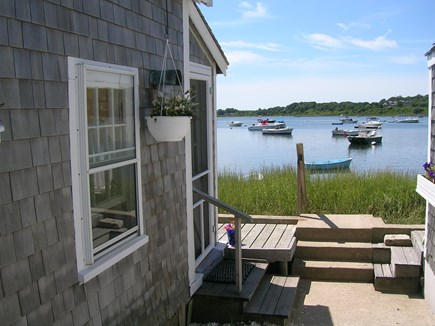 Chatham Cape Cod vacation rental - Side of the cottage looking at Mill Pond