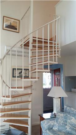 Brewster Cape Cod vacation rental - Spiral Staircase to Master Bedroom