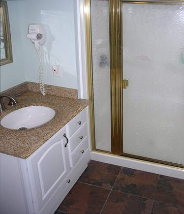Orleans Cape Cod vacation rental - Newer Bathroom with hair dryer & shower