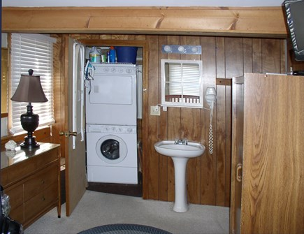 Orleans Cape Cod vacation rental - Master Bedroom with sink & separate Laundry Room