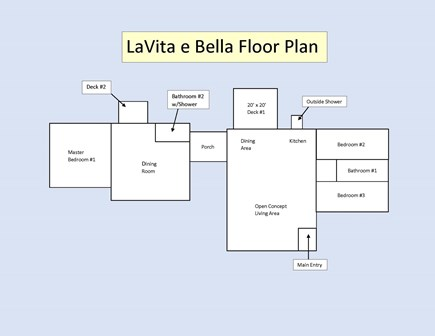South Yarmouth Cape Cod vacation rental - Floor Plan