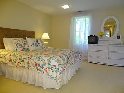 near Skaket beach in Orleans Cape Cod vacation rental - Queen bedroom upstairs with private bath
