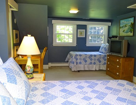 near Skaket beach in Orleans Cape Cod vacation rental - Bedroom upstairs with queen and twin bed