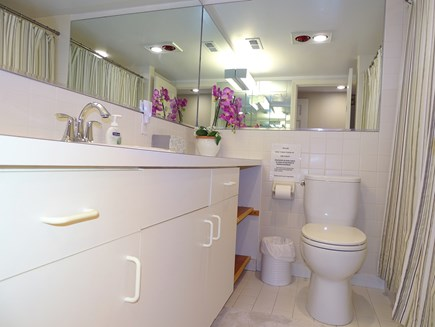 near Skaket beach in Orleans Cape Cod vacation rental - Queen bedroom private bath with shower