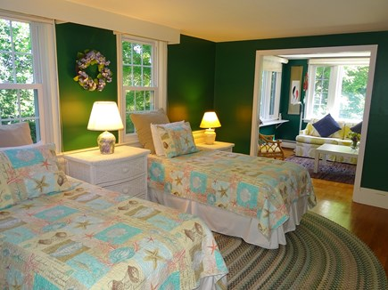near Skaket beach in Orleans Cape Cod vacation rental - Twin bedroom on first floor