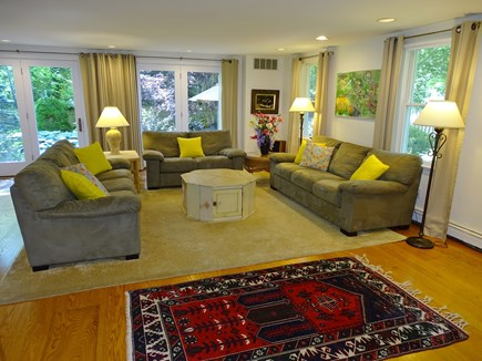 near Skaket beach in Orleans Cape Cod vacation rental - Large living room with flat screen TV