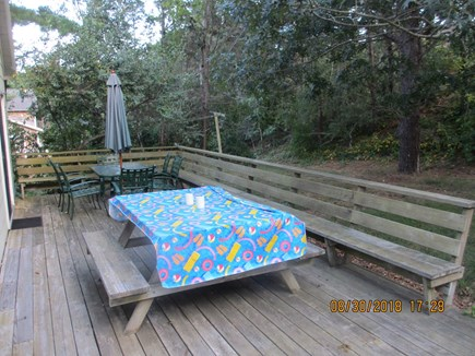 Wellfleet Cape Cod vacation rental - Rear Porch