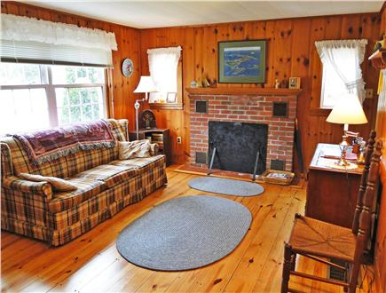 South Chatham Cape Cod vacation rental - Large living room. Classic wide plank floors, lots of sunlight