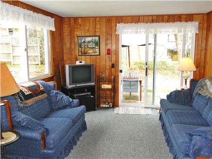 South Chatham Cape Cod vacation rental - Comfortable family room with cable tv and slider to patio