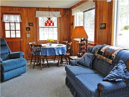 South Chatham Cape Cod vacation rental - Living and dining feeling ocean breezes and comfort