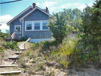 Eastham Cape Cod vacation rental - Side of house, steps to the bay