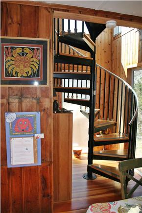 Eastham Cape Cod vacation rental - Spiral steps to master bedroom & upper decks
