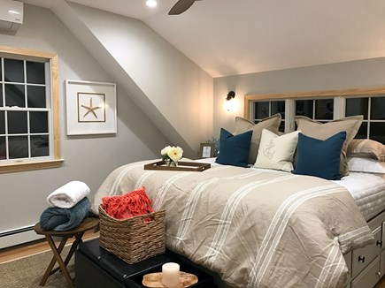 North Eastham Cape Cod vacation rental - 2nd Floor Master Bdrm - en suite full bath, central AC + Wall TV