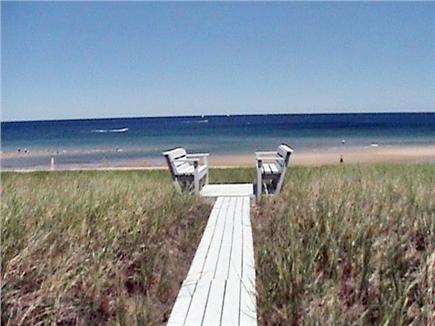 Sagamore Beach, Sandwich Cape Cod vacation rental - Path to beach