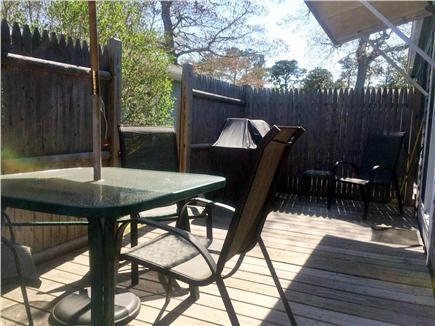 Dennisport Cape Cod vacation rental - Private enclosed rear deck
