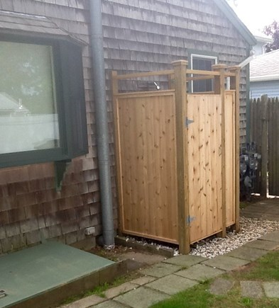 Dennisport Cape Cod vacation rental - Newly built outdoor shower to enjoy after a day at the beach!