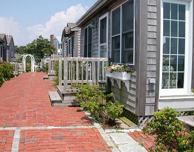 Lewis Bay, West Yarmouth Cape Cod vacation rental - Rose arbor and brick walkways  lead to the ''Jetties''