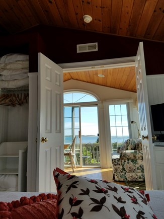 Lewis Bay, West Yarmouth Cape Cod vacation rental - Rise and Shine view from bed
