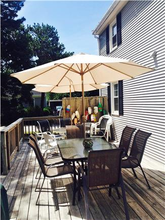 East Falmouth Cape Cod vacation rental - Rental ID 6981 Large deck with grille for outdoor entertaiing