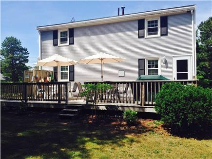 East Falmouth Cape Cod vacation rental - Back view full deck and outdoor shower