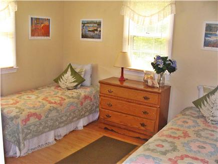 East Falmouth Cape Cod vacation rental - First floor bright, sunny front room with comfy twin beds