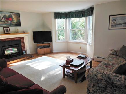 Hyannis Cape Cod vacation rental - View from large dining table into open living room & 42' LED T.V.