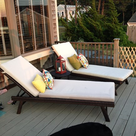 West Chatham Cape Cod vacation rental - Deck area lounge chairs