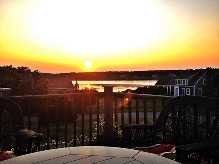 West Chatham Cape Cod vacation rental - Sunset from Deck