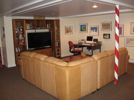 West Chatham Cape Cod vacation rental - TV/Family Room- Large television with all major cable stations