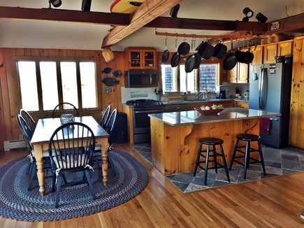West Chatham Cape Cod vacation rental - Kitchen and Dining with slider to deck