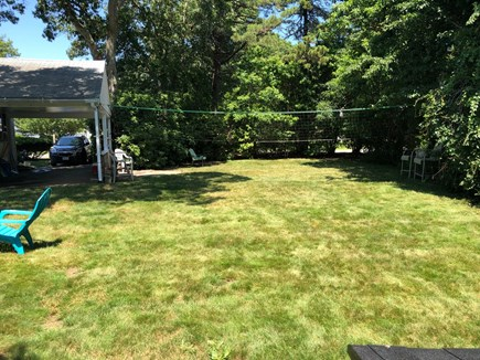 West Hyannisport Cape Cod vacation rental - Backyard - Ready for Volleyball.