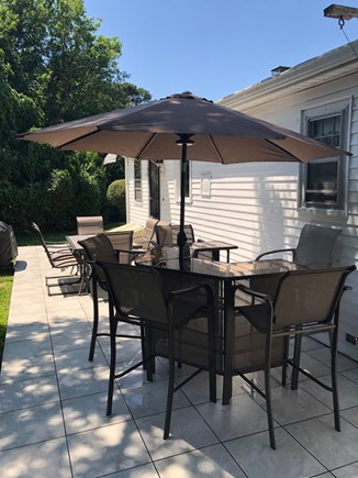 West Hyannisport Cape Cod vacation rental - Excellent patio for the cookout & beverages.