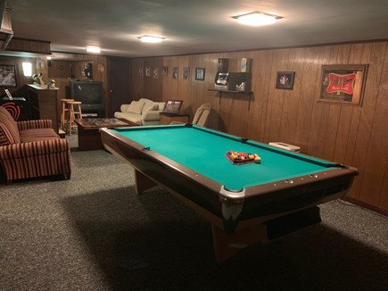 West Hyannisport Cape Cod vacation rental - Nice game room on the bottom floor, pool table and foosball.