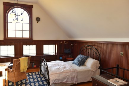 East Orleans on the cove Cape Cod vacation rental - Loft living area with queen size bed