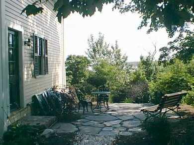 East Orleans on the cove Cape Cod vacation rental - Lovely private Flagstone patio w/ grille