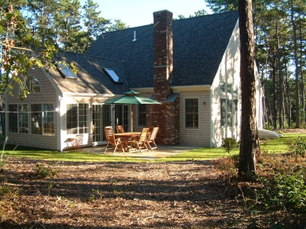 Wellfleet Cape Cod vacation rental - Rear Patio/Sunroom