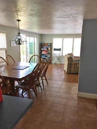 Mashpee, Popponesset Beach Cape Cod vacation rental - Kitchen/Dining looking into living room