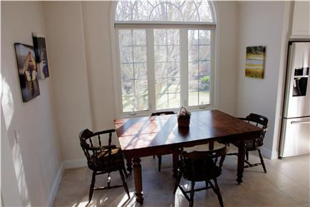 Harwich Cape Cod vacation rental - Kitchen table overlooks a beautifully landscaped front yard.