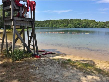 Harwich Cape Cod vacation rental - Sand Pond has a great town beach for the kids.
