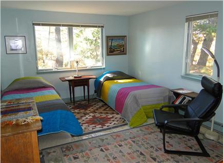 Wellfleet 4 acres on the inner Cape Cod vacation rental - Twin bedroom on lower floor