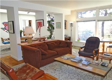 Wellfleet 4 acres on the inner Cape Cod vacation rental - Living room opens to dining room
