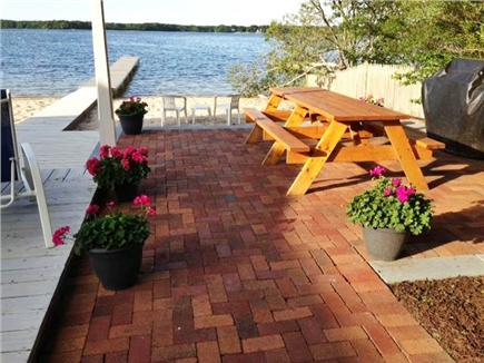 Centerville Centerville vacation rental - Guest patio and picnic table on the beach