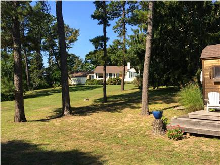 Centerville Centerville vacation rental - View of Back Yard with kayak shed. 6 Kayaks to use.