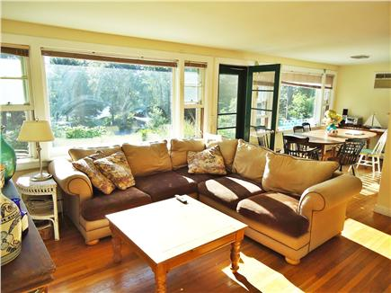 Centerville Centerville vacation rental - Living Room with view of Long Pond- new windows.