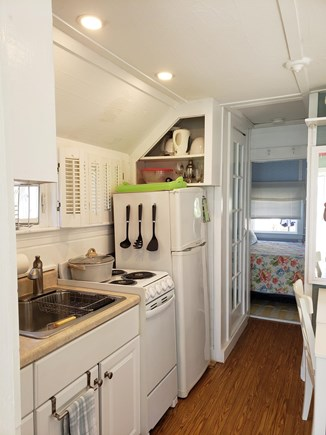 Chatham Cape Cod vacation rental - Kitchen with view into bedroom.